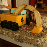 Excavator Cake I made this cake for my son's 4th birthday. His cake is an excavator and was my first time using fondant. I was really pleased with...