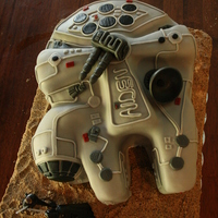 I Made This Millennium Falcon Cake For My Sons 6Th Birthday It Was My Third Time Using Fondant I Used 2 10 Inch Cake Pans And Pieces From I made this Millennium Falcon Cake for my son's 6th birthday. It was my third time using fondant. I used 2 10-inch cake pans and...