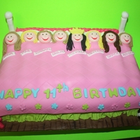 Sleepover Cake sleepover birthday cake for a young girl and her friends