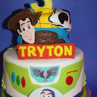 Toy Story Cake Buzz and Woody cake