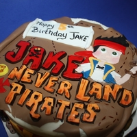 Jake And The Neverland Pirates jake and the Neverlandland pirates cake for a boy names Jake who loves the show
