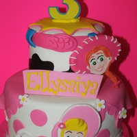 Toy Story Girl Cake girly themed Toy Story Cake