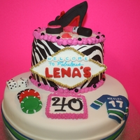 40Th Birthday Cake las vegas girlie canuck themed cake