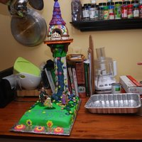 Princess Tangled Tower Cake