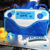 Diaper Bag Cake all edible out of fondant