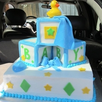 Baby Blocks Cake all edible