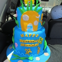 Sponge Bob Cake Had fun making this cake it's made with all fondant