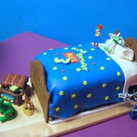Toy Story 3Rd Birthday Cake  Yet another Toy Story cake! Thank you to ange14843 and other CCers for inspiration. Gingerbread head and footboard that were gobbled up!...