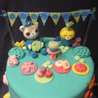 Sound The Octoalert! Lucas Is 4! My son's 4th birthday cake. He loves the Octonauts!