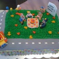 Noddy & Friends Cake A birthday picnic with Noddy & Friends for my friend's son's 3rd birthday. He loves Noddy and was so excited when he saw I&#...