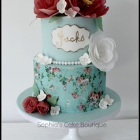 Vintage Flora Shabby Chic Cake This cake was my first attempt at wafer flowers, something ive been waiting to do for a very long time. Cake is two tiers vanilla with...