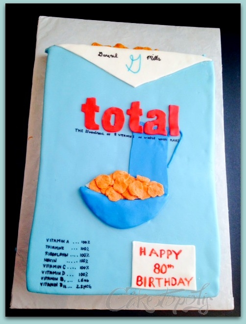 Vintage Total Cereal Box Cake Vintage Total Cereal Box Cake