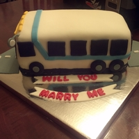 Transit Bus Made this for a couple who met on a bus. Funfetti cake with vanilla buttercream and covered in fondant.