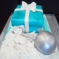 Tiffanys Baby Shower Cake Tiffanys gift box cake was Strawberry Short Cake covered with fondant made from scratch the rattle was a Vanilla infused French Toast Cake...