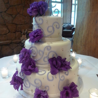 The Jaqui Beauty Elegance And Romance Describe This 3 Tier Wedding Cake The JaquiBeauty, Elegance, and Romance describe this 3 tier wedding cake