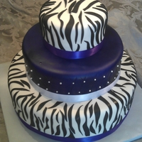 Purple Quilted Zebra
