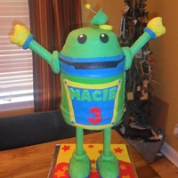 Bot From Nick Jr.s Team Umi Zoomi Show Made this for my nieces 3rd birthday. Bot stands about 3ft tall .. He was SOOO heavy and a beast to transport but her lil face was worth...