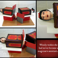 Wendy, The Sawn In Half Lady Meet Wendy, the Sawn in Half Lady, who seriously regrets having become a magician's assistant. ;-) I made this cake for a magic themed...