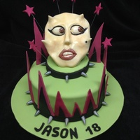 Lady Ga Ga Cake   With handmade sugar mask.