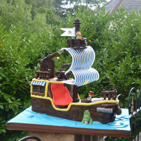 Jake And The Neverland Pirates Ship Cake Jake and the Neverland Pirates ship cake