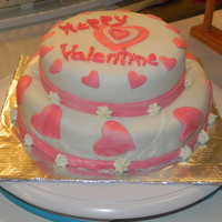 Valentine's Day My first Fondant Cake!