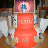 60Th Theatre Themed Birthday Cake This cake was for a gentlemans 60th birthday who was involved in theatre productions.