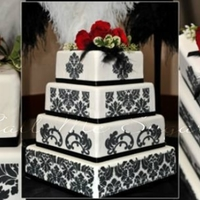 Damask Wedding A cake I did for Breakfast TV wedding contest winners.