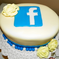 "Facebook Cake A VERY last minute cake for a friend's birthday. Her husband requested something ""facebook"" because he's on it all the..."