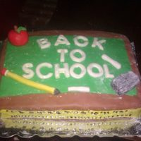 "Back To School I made this cake as a thank you from me and my son to his Pre-K teacher didnt come out great but he said ""Great job"" so Im..."