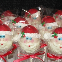 Santa Pops Santa's coming to Town- cake pops