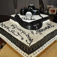 Camera Cake Customer ask me to create a cake for a photographer. This was the end result. I went out on a limb.