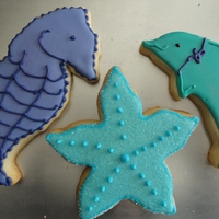 Under The Sea Cookies   cookies for an under the sea party. big thanks to sugarbelle on her wonder tutorials.