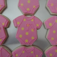 Pink Onesie Cookies   Decorated with royal icing.