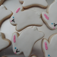 Bunny Cookies   Vanilla sugar cookies for a baby shower.