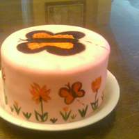 Hand Painted Butterfly Cake