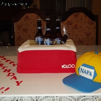 Cooler Of Beer Birthday Cake