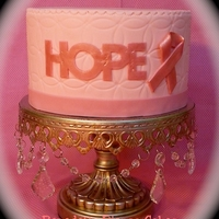 Hope Cake For Breast Cancer Awareness