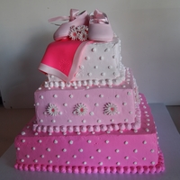 Pretty N Pink baby shower cake