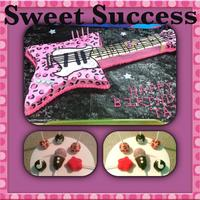 Cheetah Guitar & Cake Pops