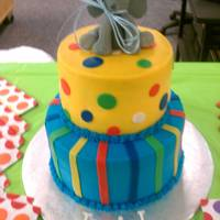 Polka Dot And Stripped Elephant Themed Shower Cake Cake Was Covered In Buttercream And Decorated With Fondant Accents Elephant Mas Made Polka dot and stripped elephant themed shower cake. Cake was covered in buttercream and decorated with fondant accents. Elephant mas made...