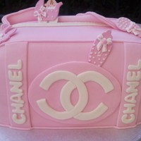 Chanel Baby Purse Cake To make my first chanel baby purse cake, I used a single side model of the bag, the strips and the letters are equipment , even including...