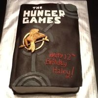 The Hunger Games Birthday Cake Replica Of Book One The Hunger Games birthday cake. Replica of book one.