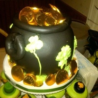 Pot Of Gold Used Ball Cake Pan Candy Coins On Top   Pot of gold. Used ball cake pan. Candy coins on top.