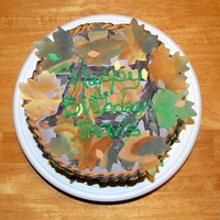 Mossy Oak Camouflage Birthday Cake This is a birthday cake I made for my brother for his 20th birthday. Its a double-layer white hexagon cake with marshmallow buttercream...