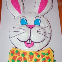 Easter Bunny Face Cake This is the cake I made for easter this year. It is a white cake with Vanilla / Marshmallow Buttercream and Royal Icing decorations. I was...