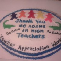 Teacher Appreciation 2 Pineapple sheet oval cake made for the Junior High school teachers during Teacher appreciation week.