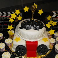 Hollywood Theme Cake!   Hollywood Theme Cake I made for a church fundraiser!