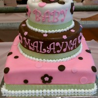 Baby Girl Baby Shower Cake!