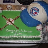 Blue Jays Retirement Cake