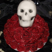 Skull On A Bed Of Roses Skull on a Bed of Roses